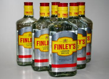 6 Flaschen FINLEYS 37,5% Vol., 0,7 Liter Finley´s