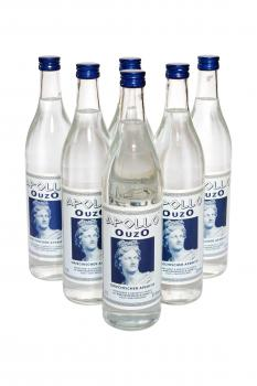6 Flaschen Ouzo Apollo 37,5% Vol., 0,7 Liter